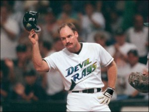 Wade  Boggs was about the only reason to end early games in the franchise's history.  Boggs collected his 3000th Career hit during his Tampa days.