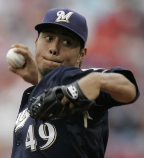 Gallardo is a key to the Brewers ascending the standings in 2013.  He is 69-43 (.616) Career so Far with a 3.63 ERA.  He just falls short of being labelled a top 10 pitcher.  The Brewers have to worried to death about an injury to their /1 Hurler