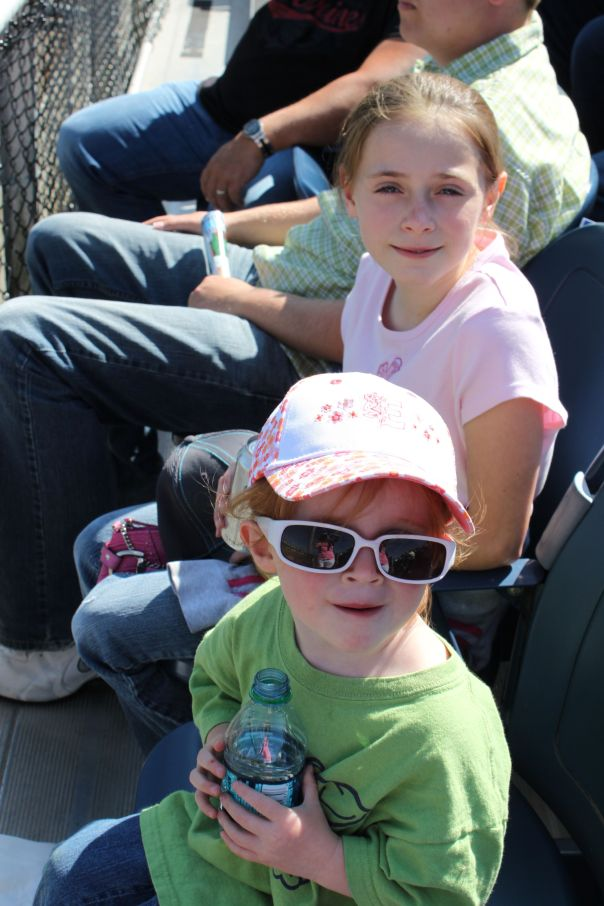 My Niece's 1st baseball game. Of course she got to sit in the front row ;)