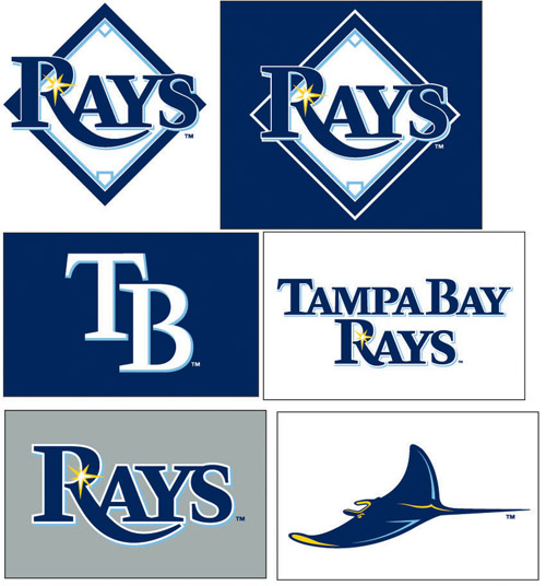 The many Rays Logo's over the years.  Is the best of this franchise yet tom come
