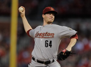 """The """"ace"""" of the Astros' staff, Houston will need to see more strike out of Lucas  Harrell."""