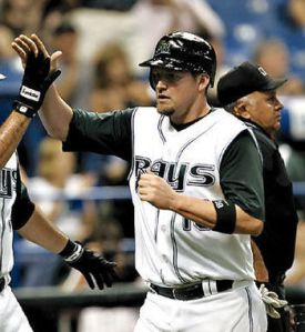 Huff was the first Rays drafted player that was offensive star.  His best year was in 2003 with a .311 Avg, 34 HRs and 107 RBI