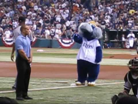 Raymond has been the teams only ever Mascot and is considered one of the best in the MLB