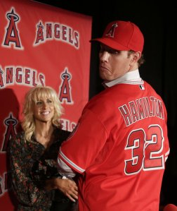 Josh Hamilton hit 43 HRs and added 128 RBI despite a 6 week slump in the middle of the year.  How much damage will he inflict on the other teams with having Trout on base and Pujols in the same lineup?