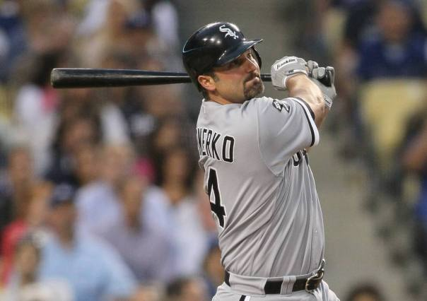 "Paul Konerko is in the last year of his contract.  At Age 37 (38 heading into 2014), will he hang it up after this subpar year of .238/.306/.655 with 9 HRs and 46 RBI in 96 Games.  Konerko is the active leader for HRs hit for just one team at 424 - and is just.  He is just 24 HRs behind all time franchise Leader Frank Thomas.  Will Konerko get the chance to catch the 'Big Hurt""?"