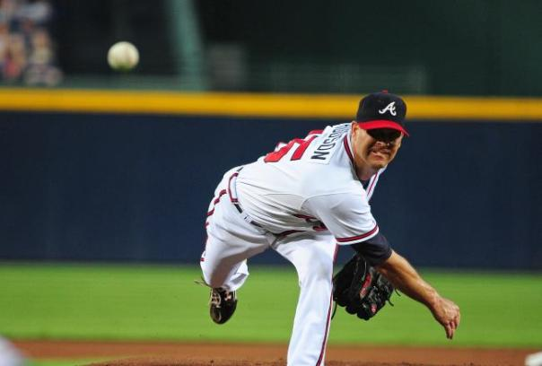 Tim Hudson has been the definition of consistent over the past decade.  His record with the Atlanta Braves is 105-68 (..618) with a 3.52 ERA.  Hudson's Athletics days included a 92-39 Record (.706) and a 3.30 ERA.