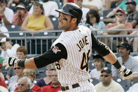 Jones had his best year for HRs and RBI in 2012, hitting 27 Big Fly's and Adding 86 RBI in just 495 AB.  He finished 9th in the NL for SLG % that year with a .516 clip.  But he was non-tendered a salary. despite maybe only making about $5 MIL In Arbitration.  The Pirates have several Options for 1B and the OF, but this may be a move they regret.
