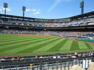 The LF Bleacher Seats are a great deal - and place to see the game in Pittsburgh