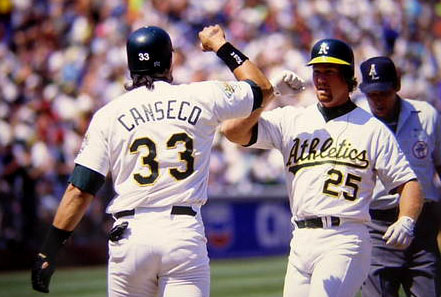 Once Rickey Henderson joined the A's, their 1-4 lineups were scary with the Bash Bro's.  Carney Lansford and Dave Henderson complimented well as #2 hitters.