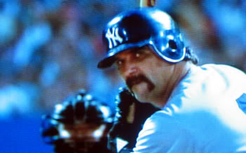 Pete Vuckovich played Yankee Nemesis Clu Haywood in the Movie.  Vuckovich played 11 Years in the Major Leagues including winning the NL Cy Young Award with the 1982 Milwaukee Brewers by going 18-6 with a 3.34 ERA