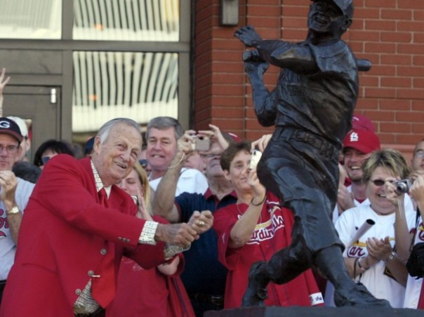 Stan Musial was an American Icon.  He served in the US Navy for a year before an honorable discharge.  He married his wife in 1920 at the Age of 20 after they met at age 15.  Stan and Lillian Musial were married for  almost 72 years before she passed last may.