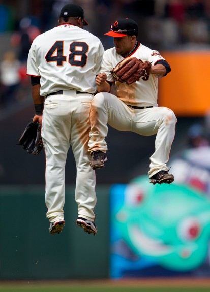Andres  Torres (right) strongly expressed his interest in coming back to San Francisco in 2013. He was big in their World Series Championship in 2010 hitting .350 in the NLCS and .318 in the World Series.