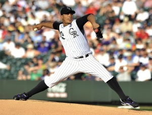 Jhoulys  Chacin is the most talented pitcher the Rockies have right now. Will he step up to the challenge of being the teams ace? His lifetime 3.68 ERA is impressive for a guy who plays half his games at Coors Field.