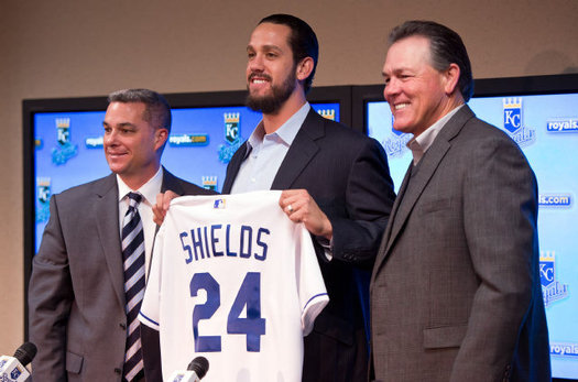 Shields was brought into do a job in the 2013 year, and he did just that, leading the American League In Innings Pitched, Game Starts - and Batters Faced - en route to a 13 - 9 year, with a 3.15 ERA.  The Royals have him for an exercised $12.5 MIL Team Option in 2014, but the ALL - Star Pitcher has expressed interest in signing an extension long - term.