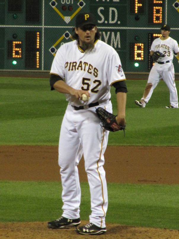Joel Hanrahan had 76 Saves over the last 2 Years with the Pittsburgh Pirates - including 2 straight ALL-Star Appearances. He will be throwing down in the 9th Inning for Boston now.  Can the Bucs find a suitable closer replacement.  Picture Courtesy of Marc  Smilow