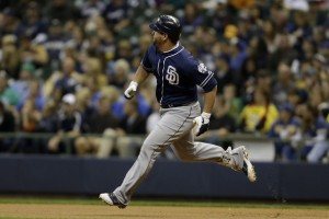 Yonder Alonso will be one of the benefactors for Petco Park once the fences are brought in.  He only hit 3 HRs in 261 AB in SD last year - absolutely abysmal power from the First Baseman Position.