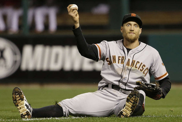 Giants fans everywhere were excited when the Giants resigned Hunter Pence this offseason to a 1 yr./$13,800,000 contract. Pence, although one of the most awkward players in baseball, was a big contributor to the Giants success. Between his speeches, and exciting glove, there should be no reason, barring anything unforeseen happening, the Giants shouldn't at least try to resign him at the end of the summer.