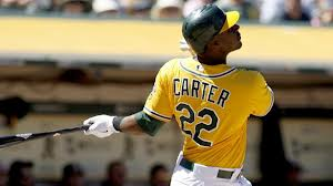 Chris Carter had a 3 Slash Line of .239/.350/.864 in 218 AB during the 2012 season. He clubbed 16 HRs and 39 RBI. He hit 11 HRs in just 122 AB away from o.co Coliseum. At just Age 26 - and team controllable until 2019, it was weird that Billy Beane would trade away the slugging 1B/DH, now we know what he was up to.