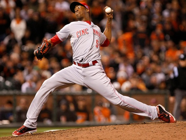 Chapman was filthy dominant in the 2012 season, with a 1.51 ERA, WHIP of 0.809 and 38 Saves as the teams closer.  He made the ALL-Star Team, finished 8th in NL Cy Young Voting and 12th in NL MVP Voting. In his 68 Appearances in 2012, Chapman fanned 122 hitters in just 71.2 IP for a K Rate of 15.3 Per 9 IP.  He has Struckout 212