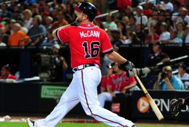 Since 2006 McCann leads Major League Catchers with 151 HR and 581 RBI.  After spending the 1st 30 Games on the DL, the man has clubbed HRs on back to back games in his 3rd and 4th GP of the year.  McCann's contract expires at the end of the year - making him a Free Agent. With Evan Gattis proving his worth as a young Catcher, McCann will need to hit like he did prior to last year