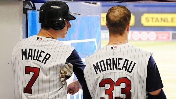 If Morneau struggles in the 2013 year, Mauer may end up being Morneau's 1B replacement going forward.  It is tough to imagine the Twins competing at all without years similar to the back of their bubblegum cards by both players.