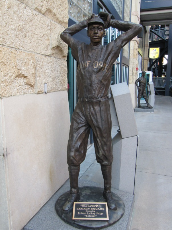 Satchel Paige made his MLB debut for the 1948 Cleveland Indians.  He, along with other African - American teammate Larry Doby, were the 1st black players to win the World Series that year.  Paige went 6-1 with a 2.48 ERA  and 2 SO at the age of 42.  At the age of 59, he came back to the MLB with the Kansas City A's, pitching scoreless baseball for 3 Innings - and only allowing 1 hit - while walking no one and fanning one batter.