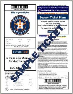 a    astros ticket