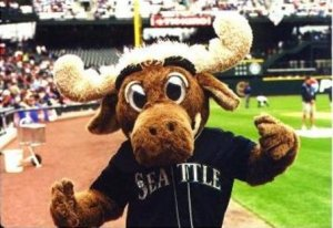 The Mariner Moose used to do weird act like the Napolean Dynamite dance and hang on the roof before a broken ankle on the outfield fence at Safeco stopped the risk taking
