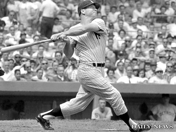 Mickey Mantle is the ALL - Time HR leader amongst switch hitters.  He was a 3 Time AL MVP with 6 other top 5 finishes.  He won the Triple Crown in 1956 for the Yankees.  In an era that was not known for Stealing, he held himself back - or he could have been Baseballs first 40/40 Man.  Mantle slugged over 1.000 OPS in 8 years and held a Career 3 Slash line of .298/.421/.977.