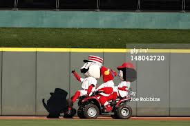 3 of 4 Reds mascots