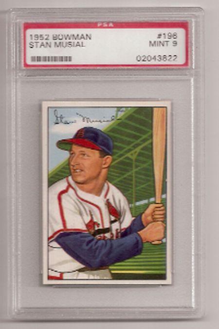 a   stan musial 1952 Bowman Card