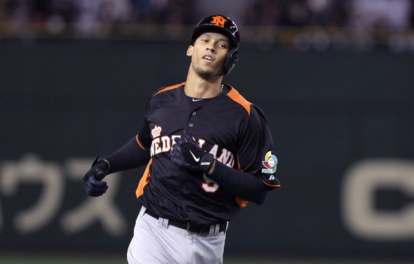 Braves infielder Andrelton Simmons has shown his power playing for the Netherlands.