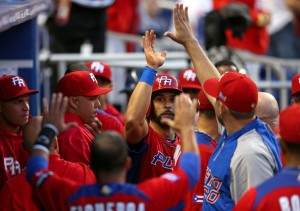 Angel Pagan led Puerto Rico to the 2013 WBC Championship.  He will miss the rest of the 2013 year to a hamstring surgery