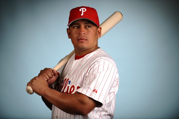 Carlos Ruiz is a fan favorite among Phillies fans. He is known as Chooch.  Ruiz missed the first 25 games of the season because he tested positive twice for a banned stimulant. Ruiz had three slash line of .325/.394/.935 in 2012, before slowing down to a .268/.328/.688 mark in 2013.  The Phils need him more for his defense, but he will be a welcomed addition on the offense, as a contact hitter who can take a walk.