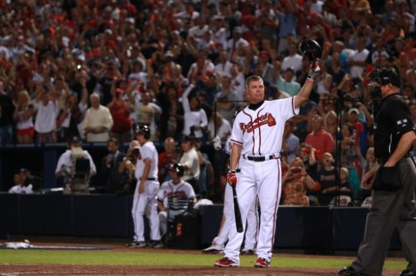 Chipper had a lifetime slash line of .303/.401/.529 with 2726 Hits and 468 HRs. He played the game the way it was supposed to be played, with class and all out effort.