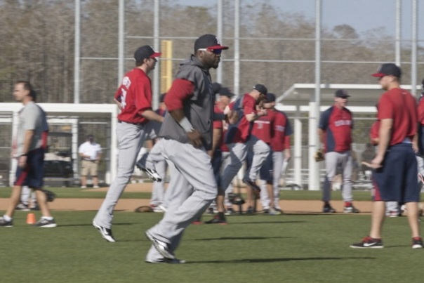 Ortiz doing a little light running in Spring Training. The Red Sox will definitely be better than last season in 2013, but Ortiz will really need to play 120 games or so for them to have a real shot in the AL East.