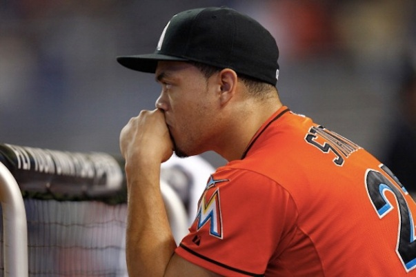 Teams are definitely interested in acquiring Giancarlo  Stanton in a trade with the Miami Marlins, but the Marlins have little incentive to actually make a deal at this time. They would have to be blown away to give up 4 years of service time from such a talent, especially since he is probably responsible for the bulk of the seats they sell. He is the show at this point.