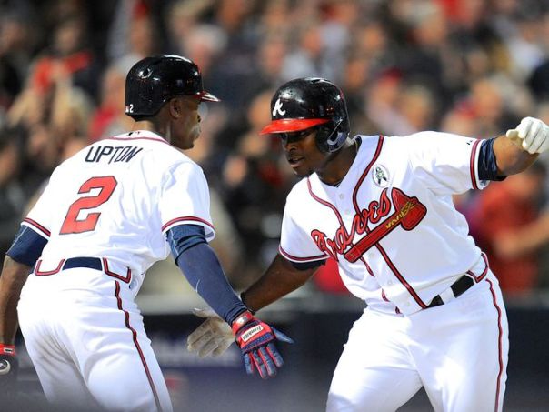 The Brothers Upton both were acquired in the offseason by the Atlanta Braves.  This was a risk for the organization - but with several rewards and benefits should the two play up to their potential.  Well 68 Games into this, B.J. Upton is struggling to be consistent, however he hits 2 HRs in their comeback win versus the Giants last night.  The man has hit 5 HRs in his last 28 Games.  He is also hitting .250 for the month of June.  It is Justin Upton who is now having a tough time.  After clubbing 12 HRS in April, he is hit only 3 in the next 39 games and a low .200 BA.