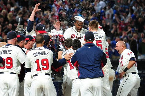 The Braves have a great chance to pick up their 1st NL East Division Title since 2005 this season.  Entering play Wed night, they were 7 Games ahead of both of the Washington Nationals and Philadelphia Phillies - with a 42 - 30 record.  However, since jumping out of the gate at 12 - 1, they have only gone 30 - 29.  Struggles from many of their key players have contributed to this sub.500 mark the last few months.
