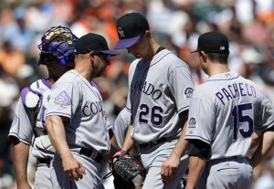 The Rockjies usually have a multitude of problems coming directly from the Pitching Rotation.  2014 is a different story than the past few years, De La Rosa, Chatwood and Chacin have  a solid Rotation - and will be backed by efforts from the Bullpen courtesy of Rex Brothers and Hawkins particularly.  Throw in their offense with CARGO and TULO healthy for a full year, and it could be a great year.  Surprise teams get the MGR of the year award