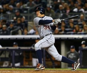 Avisail Garcia made his Major League Debut during the last part of the Regular Season in 2012.  The man hit for a  3 Slash Line of (.319/.373/.692) in 47 AB and played a role in the Tigers World Series Berth of 2012 .  Garcia had 5 Hits and 3 RBI during 11 AB in the 2012 ALCS versus the New York Yankees.