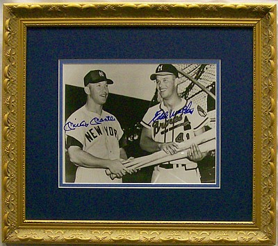 Matthews and Mantle wre synonymous with their HR totals from the time they both joined the league.