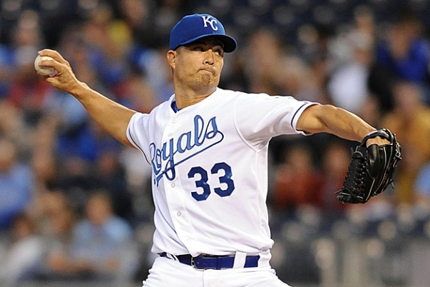 Guthrie and the Royals tried to stick with the Sox in the 1st two games, only to be outpitched