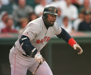Mo Vaughn is listed as weighing only 225 pounds at baseball reference.com, but for those that watched him play, knew that was way under the weight Vaughn played at once he left Boston.  Vaughn spent his first 8 years with Boston hitting .304 with 230 HRs and 752 RBI.  Vaughn was named the 1995 AL MVP when he hit 44 HRs and drove in 143 RBI.