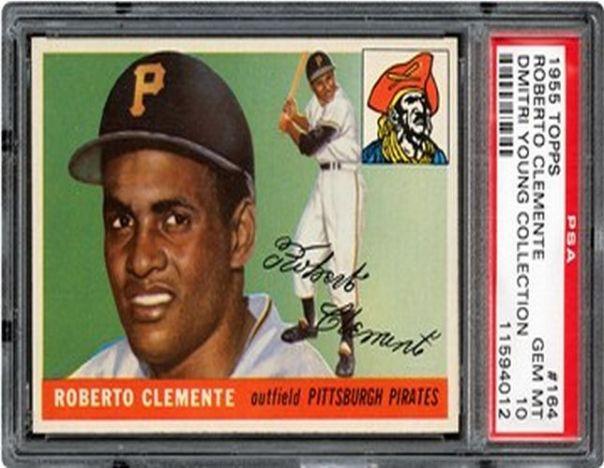 a   roberto clemente 1955 Topps Card