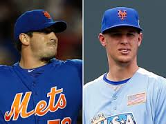 Harvey was the 7th pick of the 2010 MLB Amateur Draft.  Wheeler was Drafted 6th overall by San Francisco in the 2009 MLB Amateur Draft.