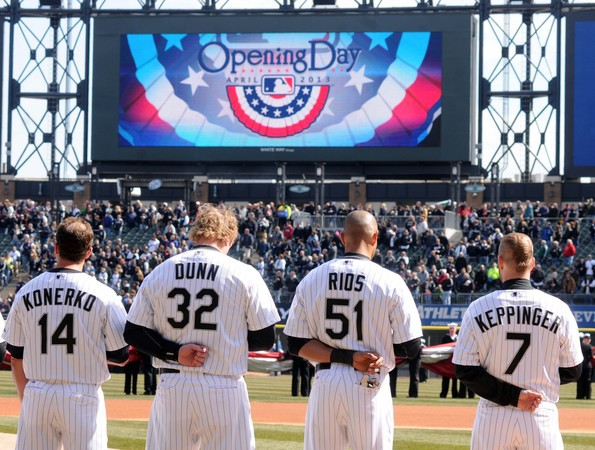 Besides Konerko in this picture, all other guys could be traded that were on the 2013 Opening Day Roster, with the exception of Sale also.  Jake Peavy even has to be considered with such a limited market for Starting Pitchers.  Dunn could be dealt to a team like Baltimore for a DH, or New York for a 1B/DH/.  Jeff Keppinger could provide long term versatility for a team like New York, Boston or the LA Dodger at a cheap price for a contact hitter with a .282 Career BA.