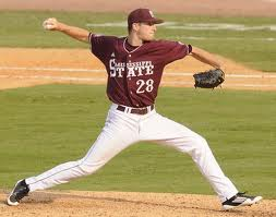 Chris  Stratton was a first round pick for the Giants in 2012.  You can expect to see him, possibly as soon as late 2014 pitching for the Giants