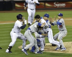 Padres outfielder charged Dodgers pitcher Zack Greinke after Greinke nailed Quentin with a pitch on 3-2 count on Thursday April 12, 2013. Shortly after the fight, Dodgers outfielder Matt Kemp got infuriated and started yelling at the Padre team including manager Bud Black.