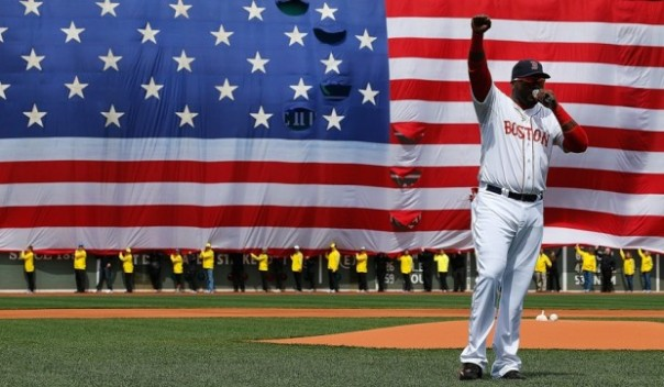 David Ortiz'  pregame speech on Saturday was awesome! His .318/.415/.611 slash line with 23 HR and 60 RBI last season in just 90 games shows his importance in this lineup. The team did a good job in his absence, but now it's time to score some runs!